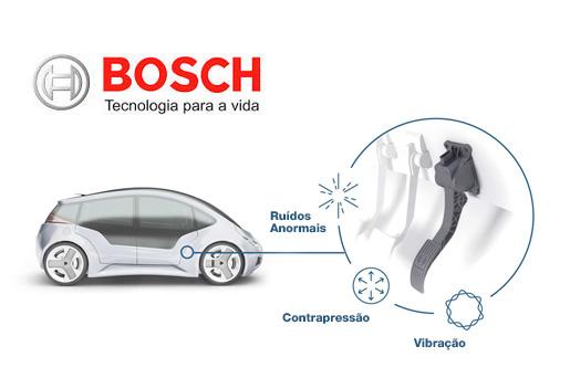 Bosch desenvolve acelerador que alerta motorista, economiza combustível e evita riscos no trânsito