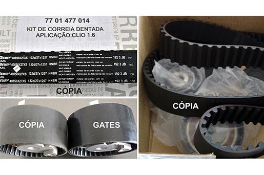 Gates alerta para a descoberta de novos casos de correias copiadas na reposição automotiva