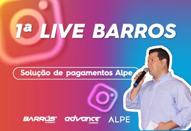 Barros Autopeças realiza sua primeira live